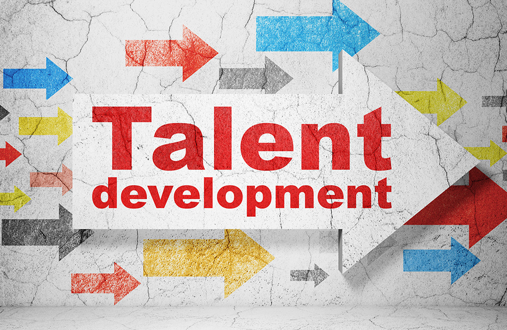 An arrow pointing to Talent Development