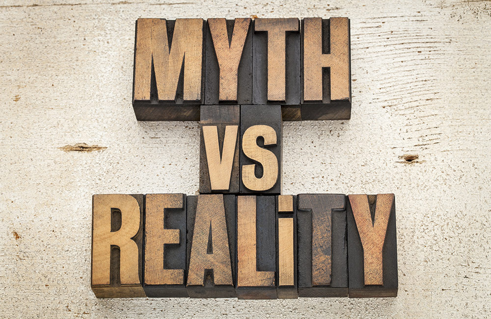 The words Myth vs Reality