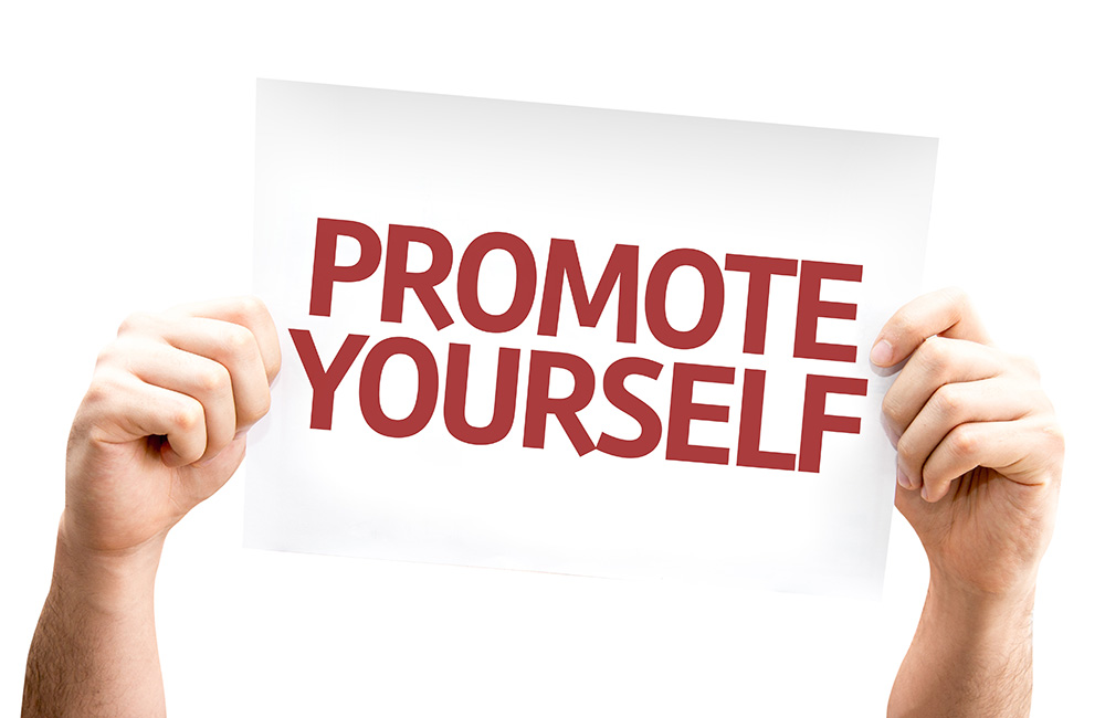Promote yourself sign